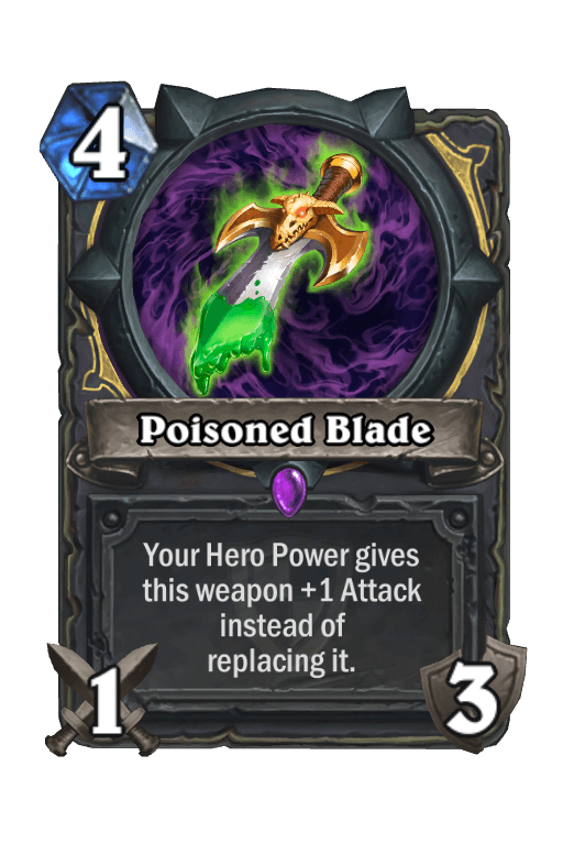 Poisoned BladeHearthstone kártya