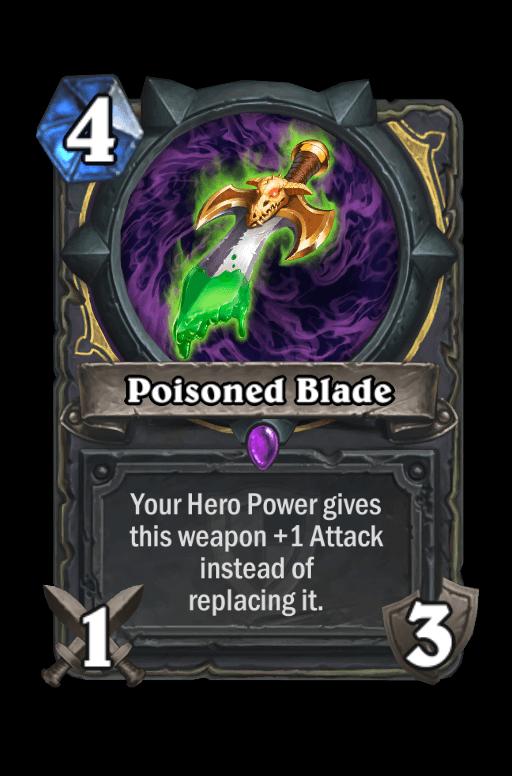 Poisoned Blade Hearthstone kártya