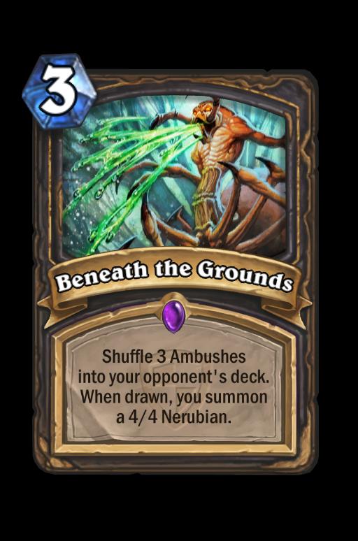 Beneath the Grounds Hearthstone kártya