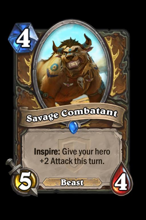 Savage Combatant Hearthstone kártya