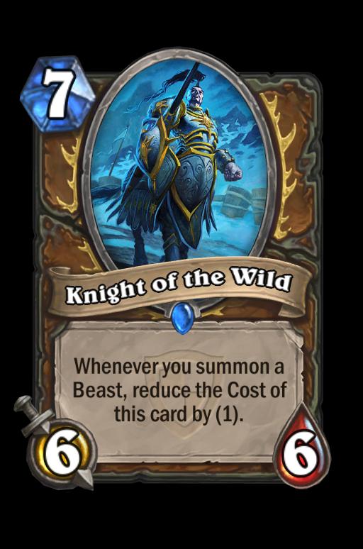 Knight of the Wild Hearthstone kártya