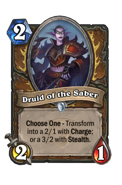 Druid of the SaberHearthstone kártya