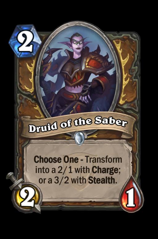 Druid of the Saber Hearthstone kártya