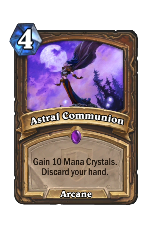 Astral Communion Hearthstone kártya