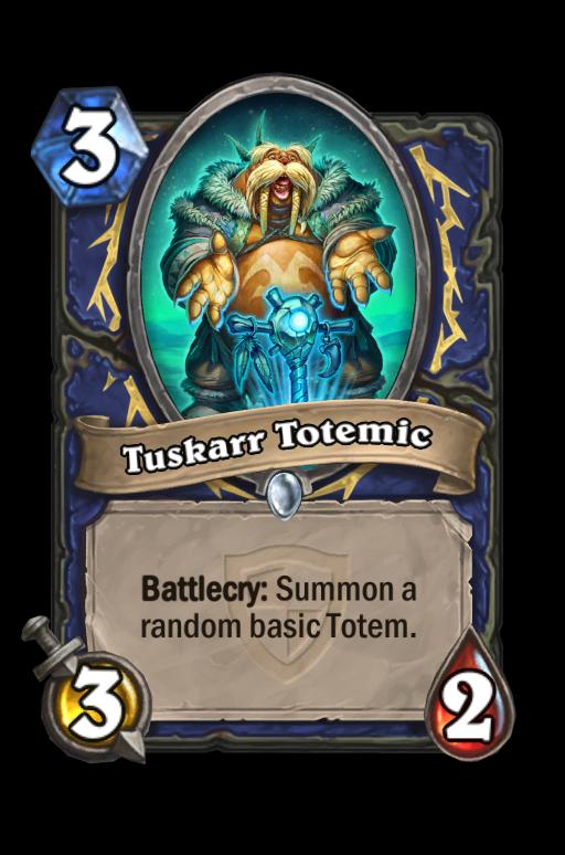 Tuskarr Totemic Hearthstone kártya