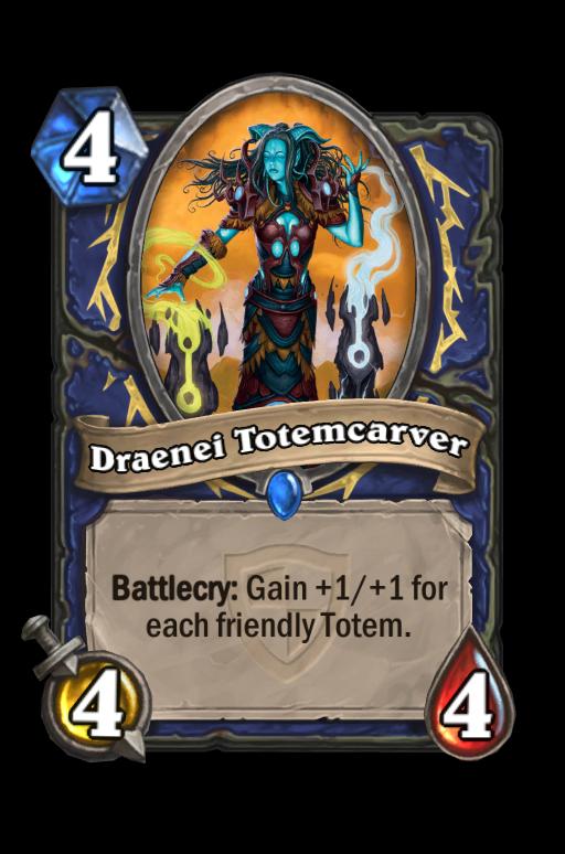 Draenei Totemcarver Hearthstone kártya