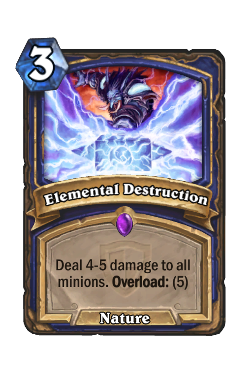 Elemental Destruction Hearthstone kártya
