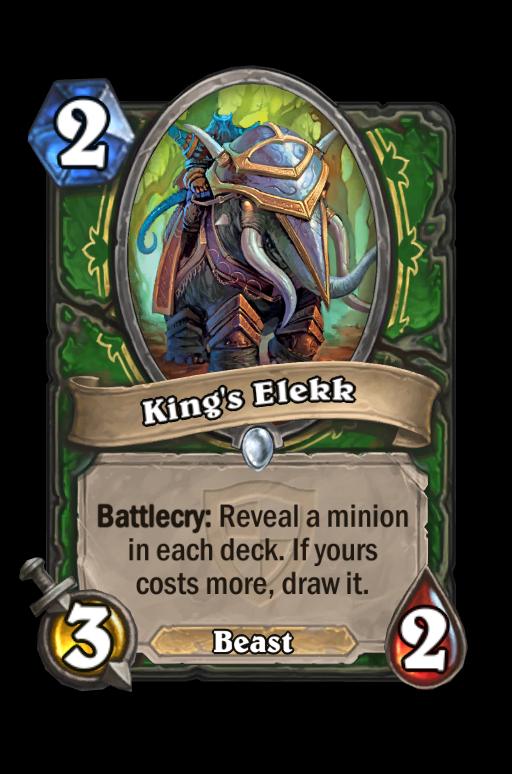 King's Elekk Hearthstone kártya