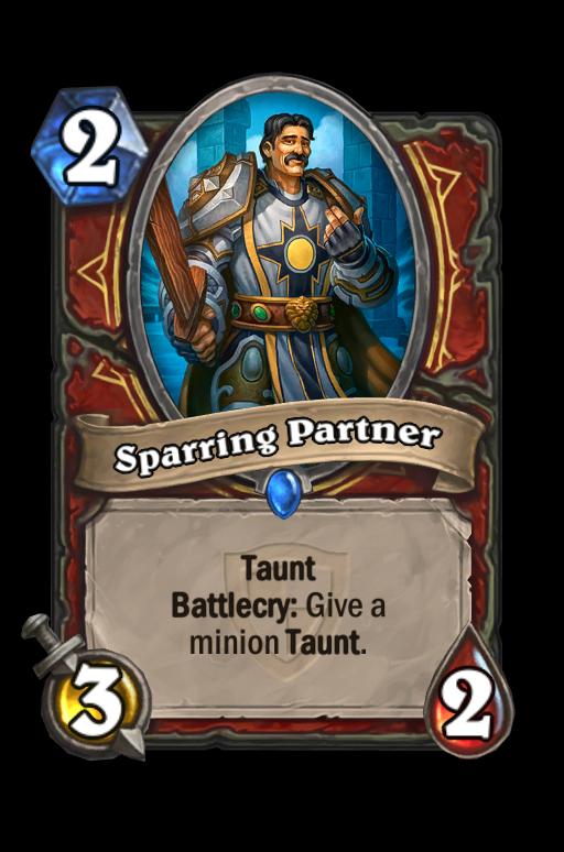 Sparring Partner Hearthstone kártya