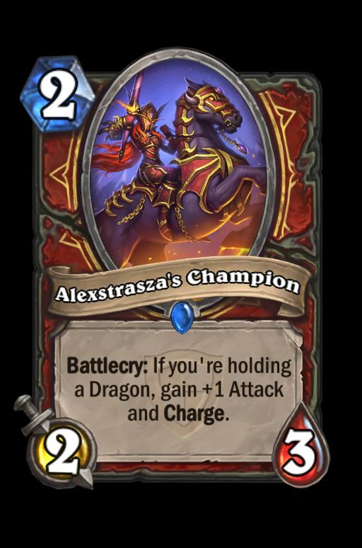 Alexstrasza's Champion Hearthstone kártya