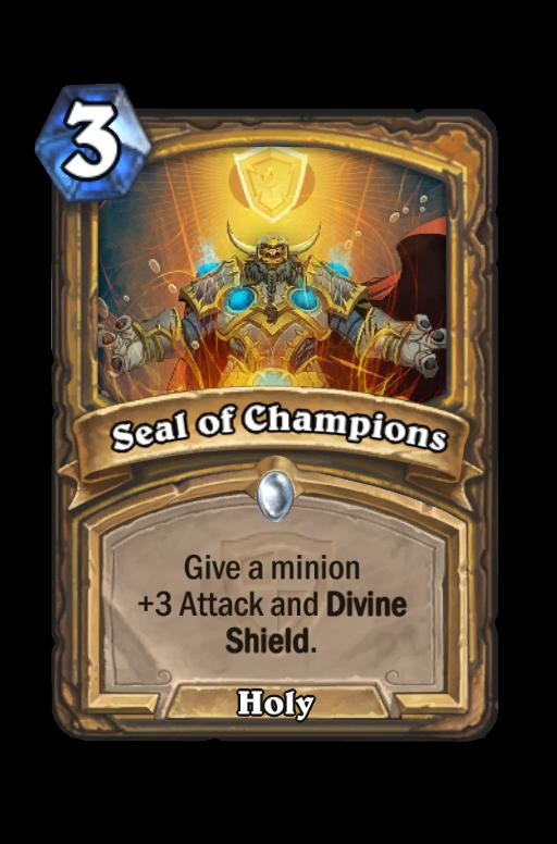 Seal of Champions Hearthstone kártya