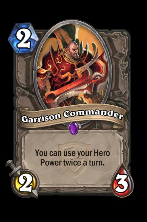 Garrison Commander Hearthstone kártya