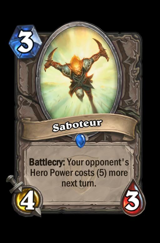 Saboteur Hearthstone kártya