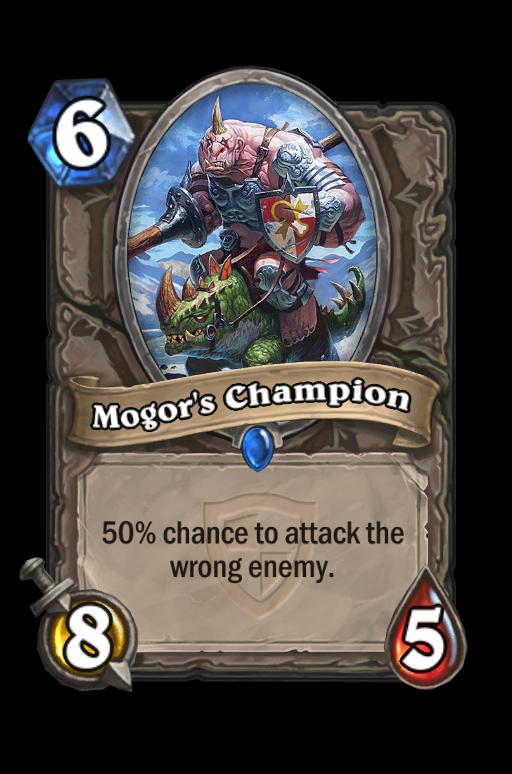 Mogor's Champion Hearthstone kártya