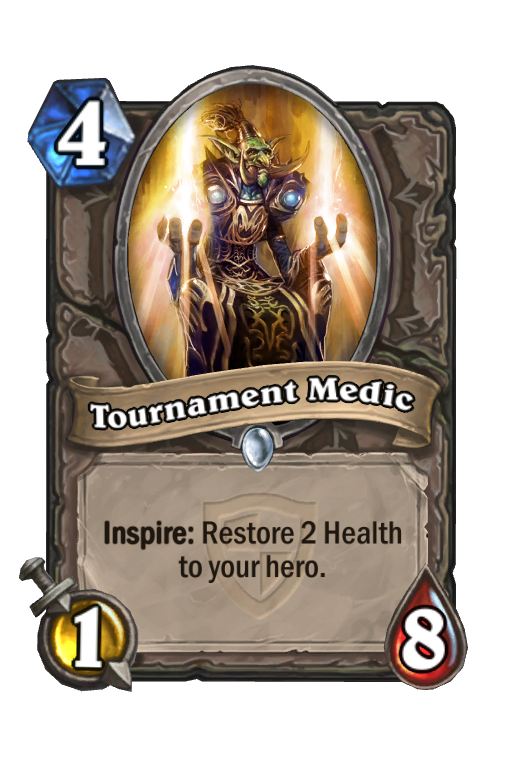 Tournament Medic Hearthstone kártya