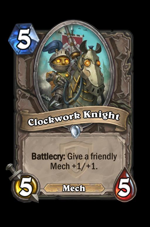 Clockwork Knight Hearthstone kártya