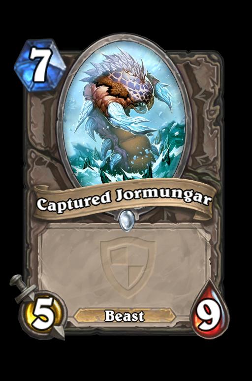 Captured JormungarHearthstone kártya