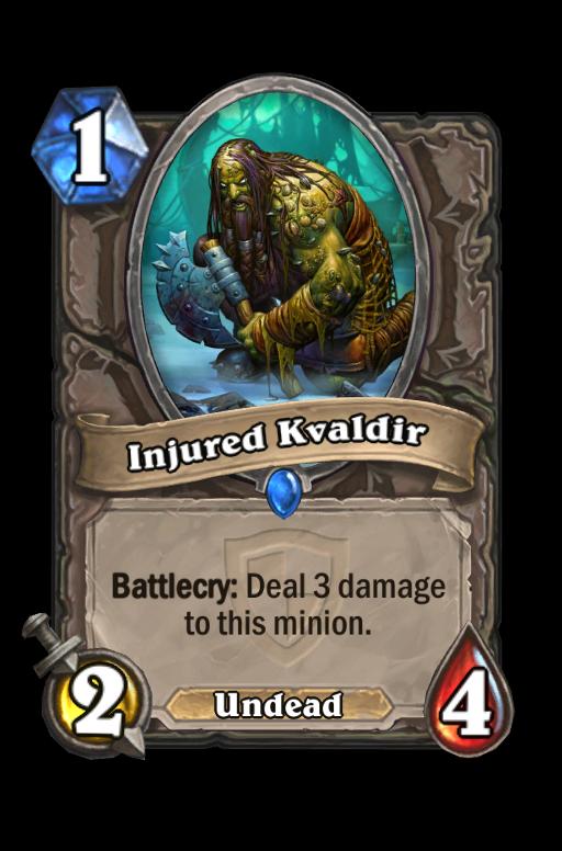 Injured Kvaldir Hearthstone kártya