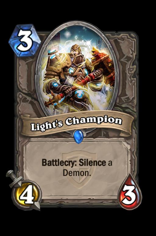Light's Champion Hearthstone kártya