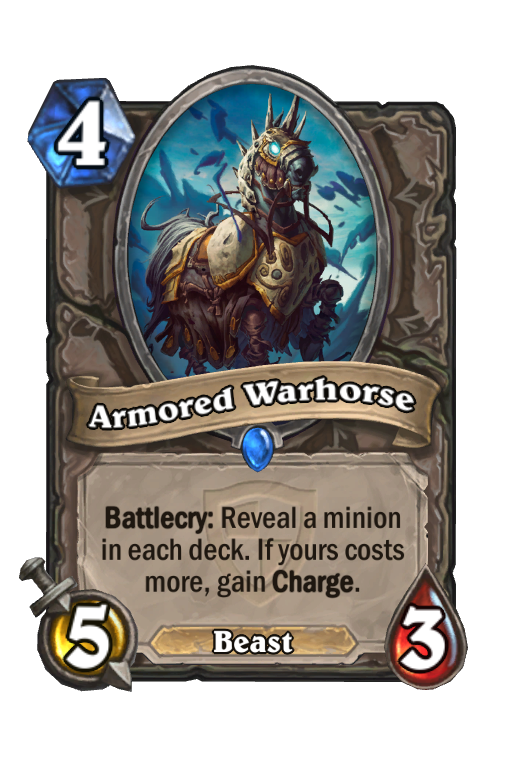 Armored Warhorse Hearthstone kártya
