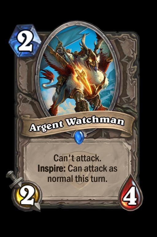 Argent Watchman Hearthstone kártya