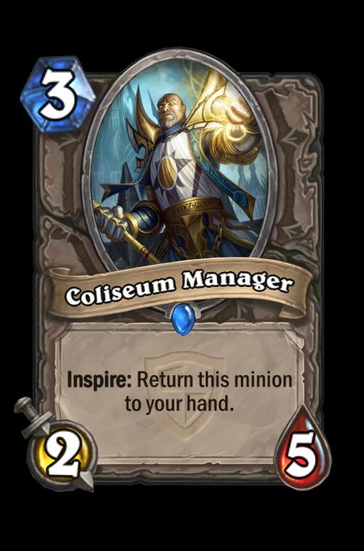 Coliseum Manager Hearthstone kártya