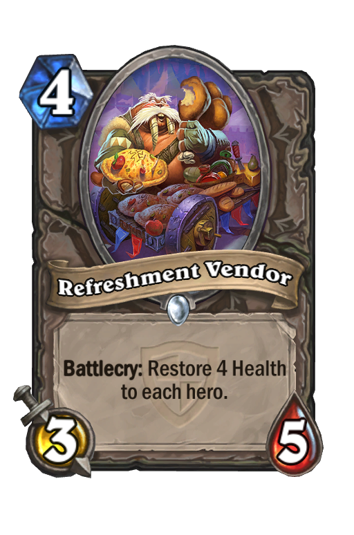 Refreshment Vendor Hearthstone kártya