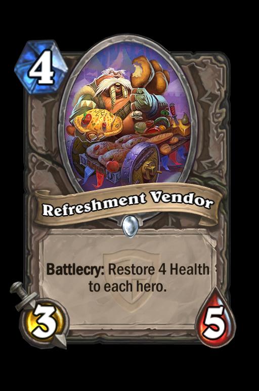 Refreshment Vendor Hearthstone kártya