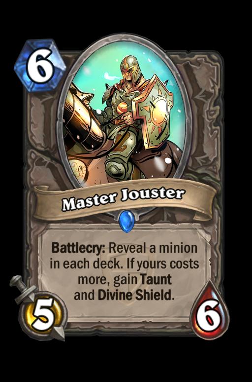 Master Jouster Hearthstone kártya