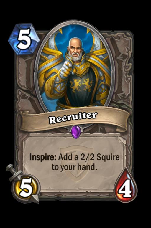Recruiter Hearthstone kártya