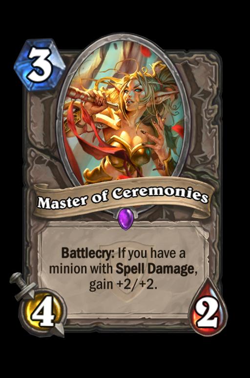 Master of Ceremonies Hearthstone kártya