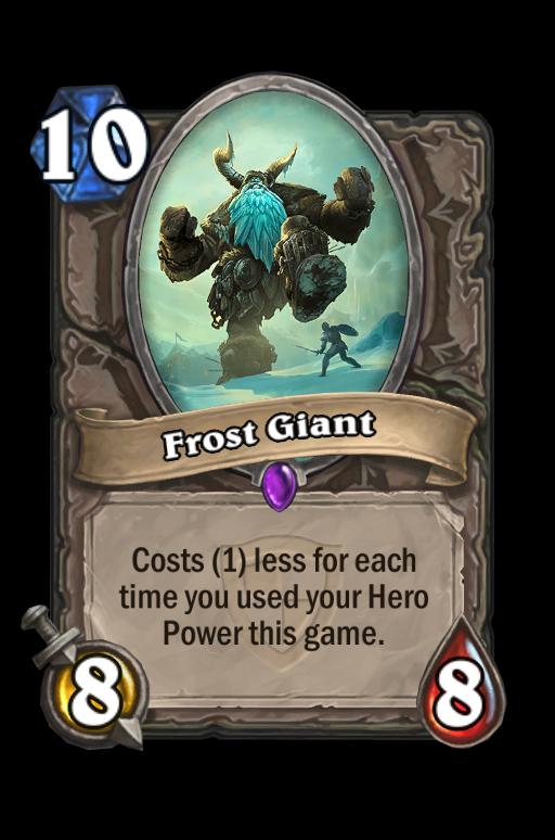 Frost Giant Hearthstone kártya