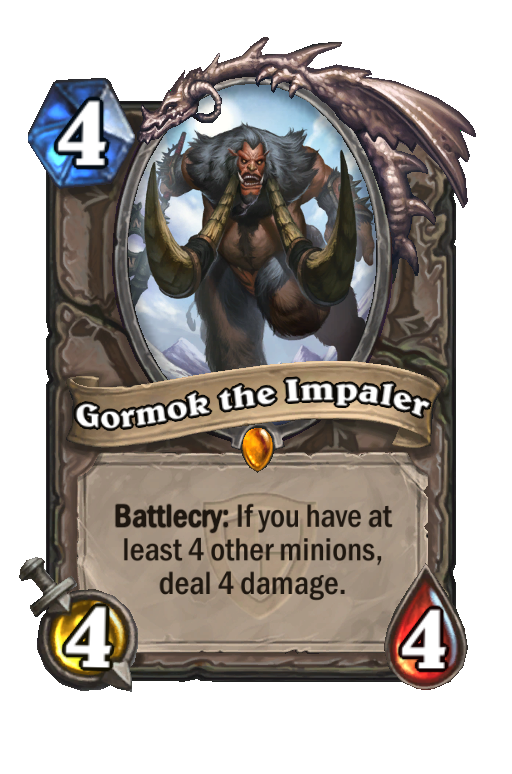Gormok the Impaler Hearthstone kártya