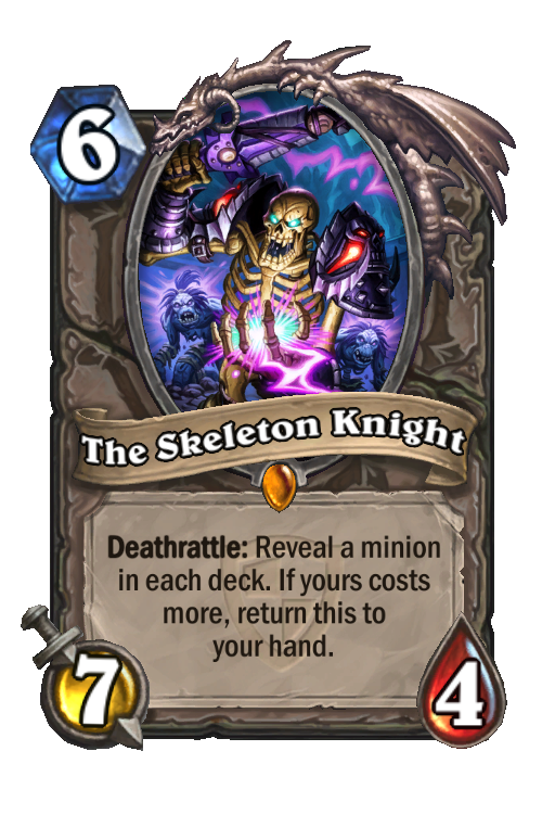The Skeleton Knight Hearthstone kártya