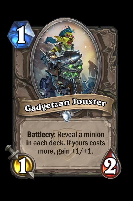 Gadgetzan Jouster Hearthstone kártya