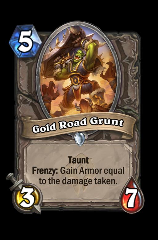 Gold Road Grunt Hearthstone kártya