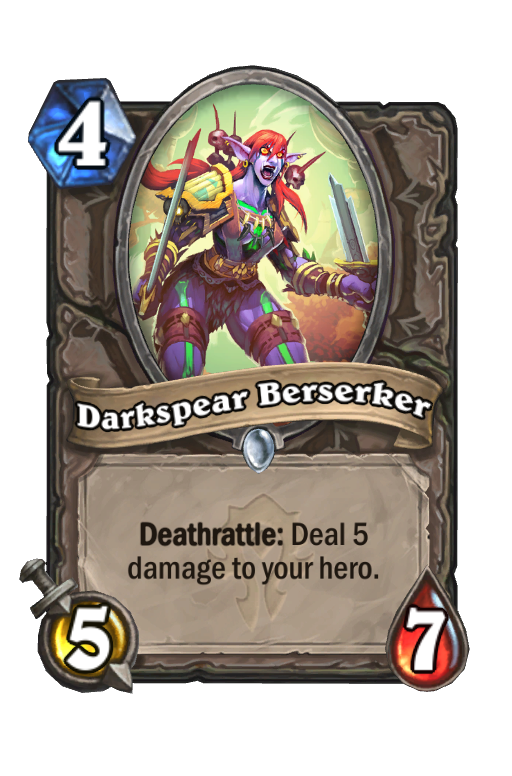 Darkspear Berserker Hearthstone kártya