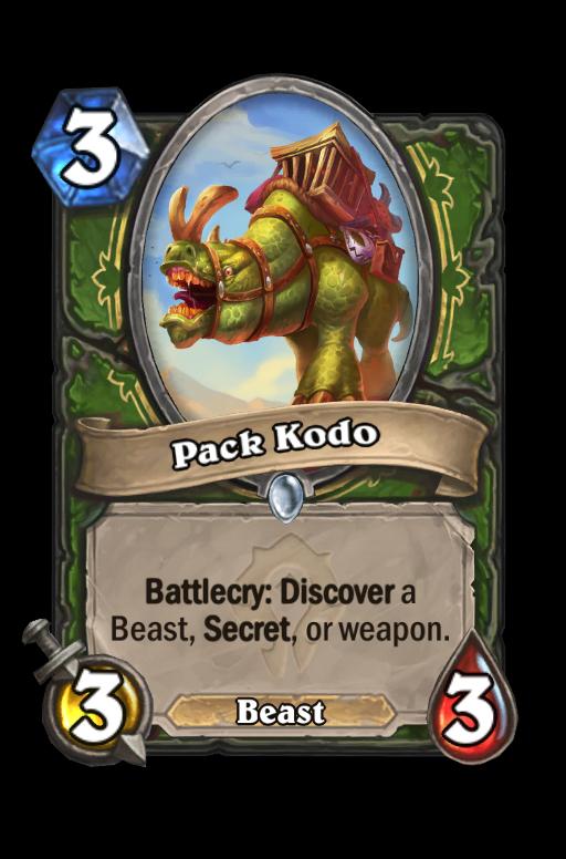 Pack Kodo Hearthstone kártya