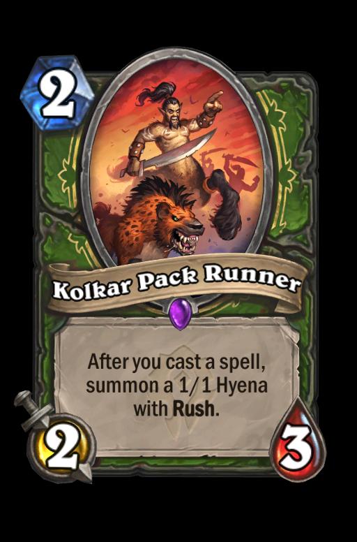 Kolkar Pack Runner Hearthstone kártya