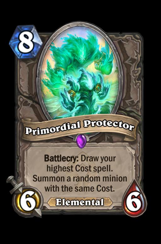 Primordial Protector Hearthstone kártya