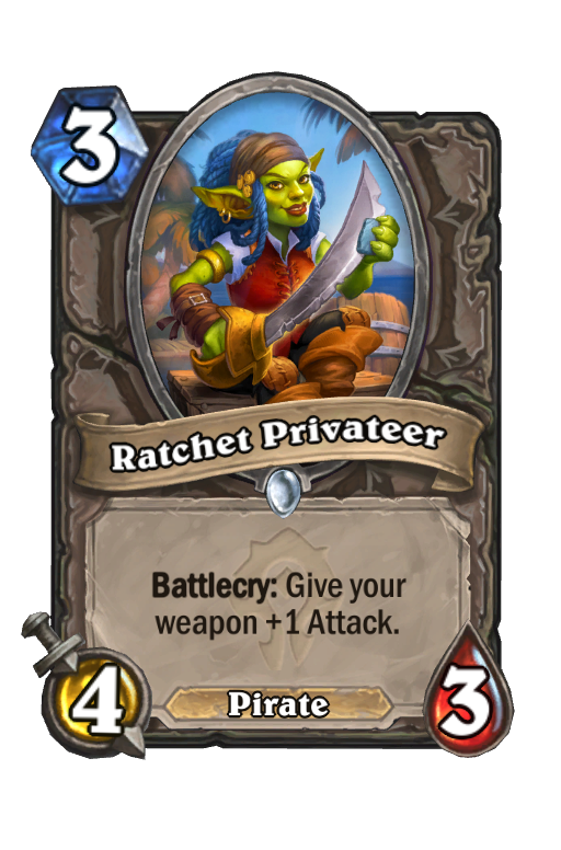 Ratchet Privateer Hearthstone kártya