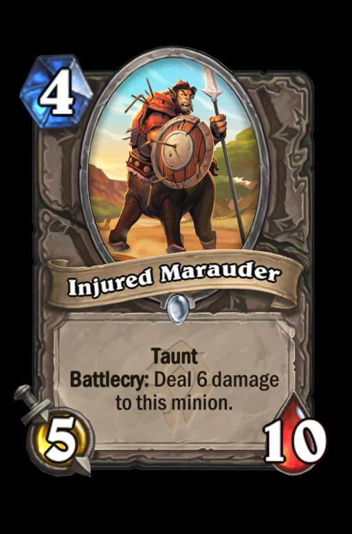 Injured Marauder Hearthstone kártya