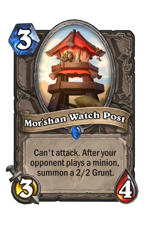 Mor'shan Watch Post Hearthstone kártya