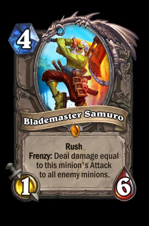 Blademaster Samuro Hearthstone kártya