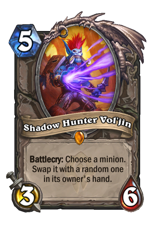 Shadow Hunter Vol'jin Hearthstone kártya