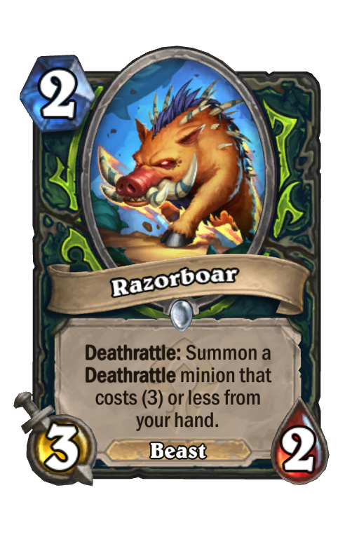 Razorboar Hearthstone kártya