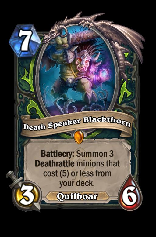 Death Speaker Blackthorn Hearthstone kártya