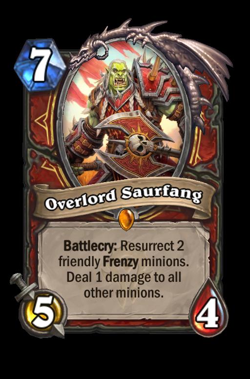 Overlord Saurfang Hearthstone kártya