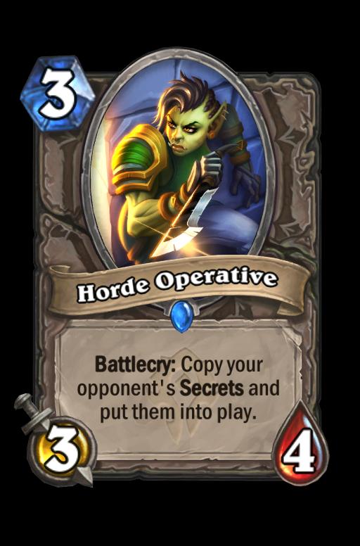 Horde Operative Hearthstone kártya