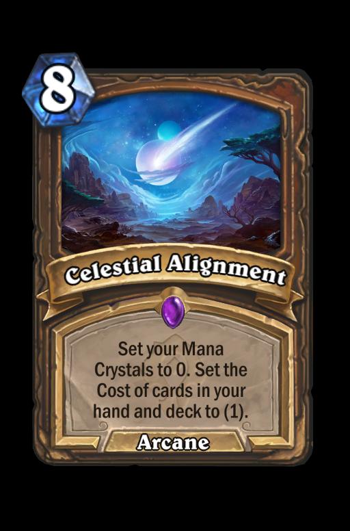 Celestial Alignment Hearthstone kártya